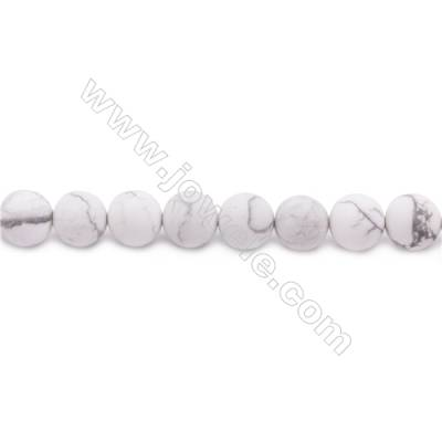Frosted Howlite Beads Strand Faceted Round  Diameter 10mm  hole 1mm  about 38 beads/strand 15~16""