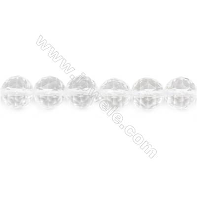Natural Rock Crystal Beads Strand Faceted Round  Diameter 12mm  hole 1.5mm  about 32 beads/strand 15~16""
