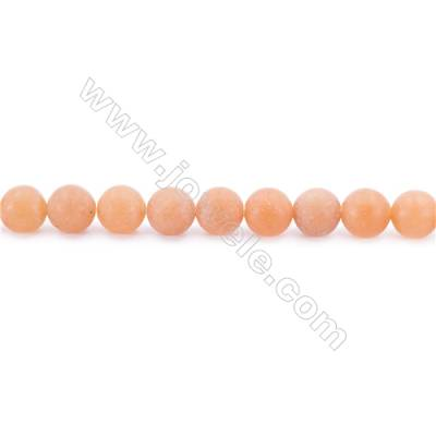 Frosted Red Aventurine Beads Strand Faceted Round  Diameter 8mm  hole 1mm  about 49 beads/strand 15~16""