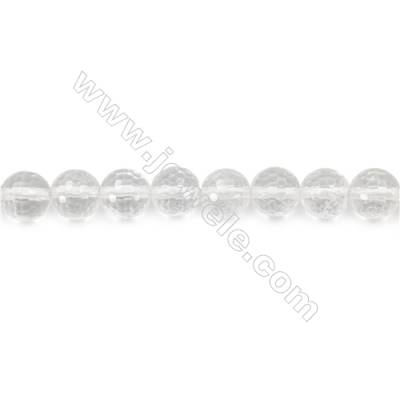 Rock Crystal Beads Strand  Faceted Round  Diameter 8mm  hole 1mm  about 48 beads/strand 15~16""