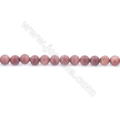 """Natural African Blood Jasper Beads Strand  Round  Diameter 6mm  hole 1mm  about 67 beads/strand 15~16"""""""