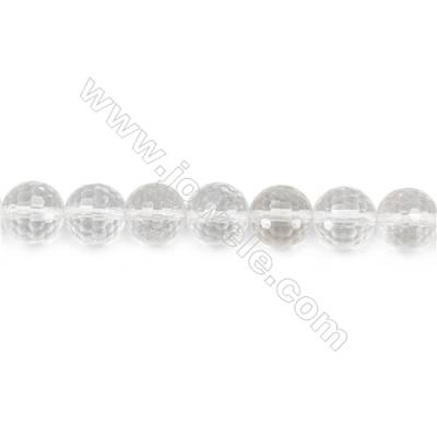 """Rock Crystal Beads Strand  Faceted Round  Diameter 10mm  hole 1mm  about 38 beads/strand 15~16"""""""