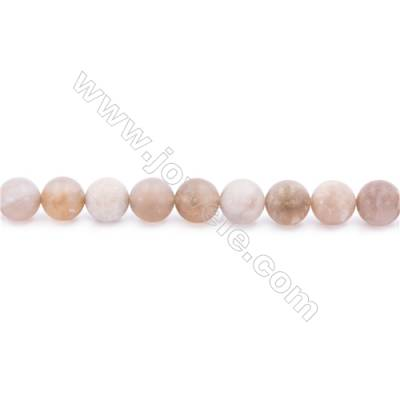 Frosted Fossil Coral Agate Beads Strand  Round  Diameter 8mm  hole 1mm  about 48 beads/strand 15~16""