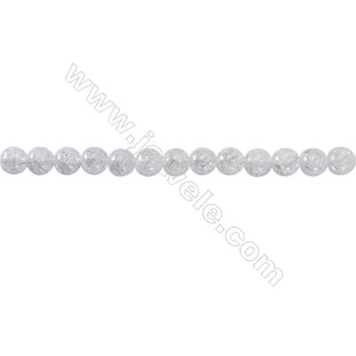 Crackle Quartz Beads Strand  Round  Diameter 6mm   hole 1mm   about 65 beads/strand 15~16''