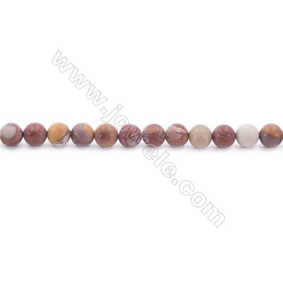 """Frosted Noreena jasper Beads Strand  Round  Diameter 6mm  hole 1mm  about 64 beads/strand 15~16"""""""