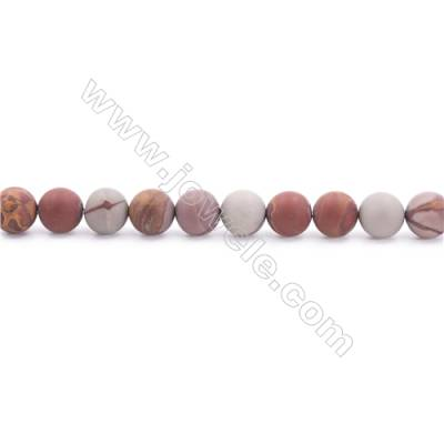 Frosted Noreena jasper Beads Strand  Round  Diameter 8mm  hole 1mm  about 49 beads/strand 15~16""