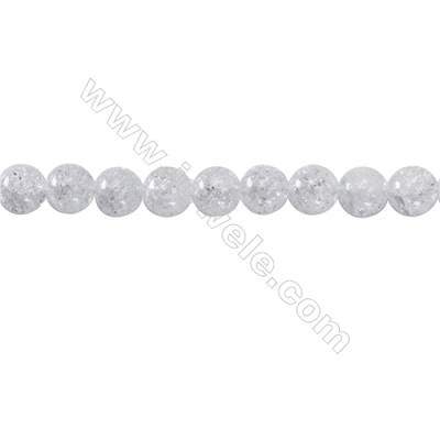 Crackle Quartz Beads Strand  Round  Diameter 10mm   hole 1mm   about 40 beads/strand 15~16''