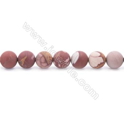 Frosted Noreena jasper Beads Strand  Round  Diameter 10mm  hole 1mm  about 41 beads/strand 15~16""