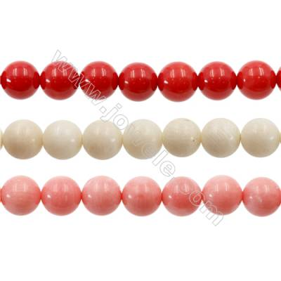 Various Colors Coral Round Beads Strands  Dyed  Diameter 9mm  Hole: 1mm  about 45 pcs/strand 15~16""