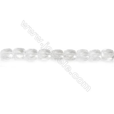 Natural Rock Crystal Beads Strand  Square  Size 8x8mm  hole 1mm  about 49 beads/strand 15~16""