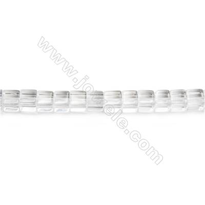 Natural Rock Crystal Beads Strand  Cube  Size 8x8x8mm  hole 1mm  about 51 beads/strand 15~16""
