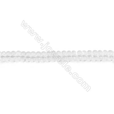 Natural Rock Crystal Beads Strand  Abacus  Size 3x6mm  hole 1mm  about 146 beads/strand 15~16""
