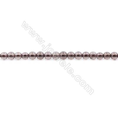 Natural Smoky Quartz Beads Strand  Round  Diameter 4mm  hole 1mm  about 105 beads/strand 15~16""
