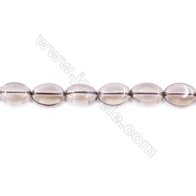 Natural Smoky Quartz Beads Strand Oval   Size 10x14mm  hole 1mm  about 30 beads/strand 15~16""