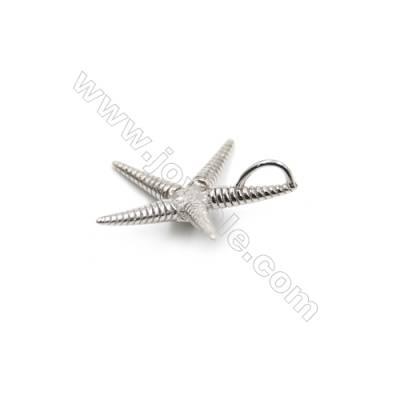Sterling silver platinum plated pendant -D5006 19mm x 5pcs disc diameter 5mm