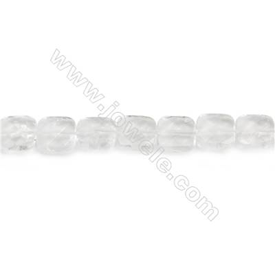 Natural Rock Crystal Beads Strand  Faceted Square  Size 12x12mm  hole 1mm  about 33 beads/strand 15~16""