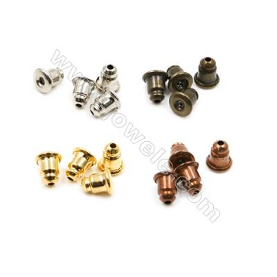 Brass ear plug, Size 4.9x5.6mm, 200pcs/pack