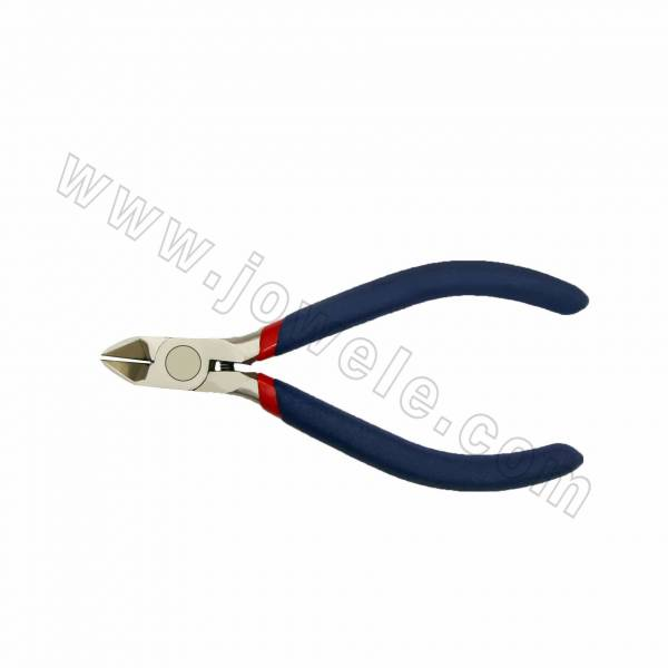 304 Stainless Steel Jewelry Pliers, Wire Cutter, Polishing, Red & Blue, 110mmx50mm, 12pcs/pack