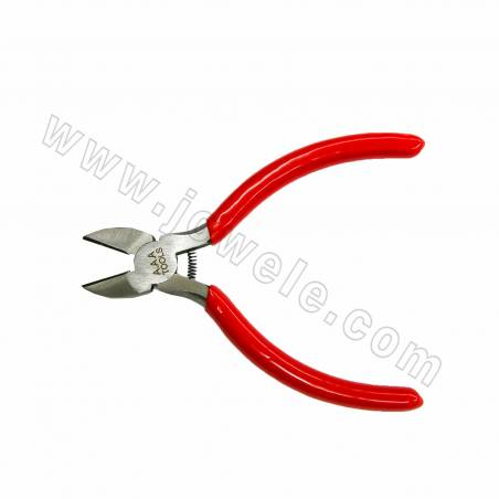 304 Stainless Steel Jewelry Pliers, Needle-Nose Pliers, Polishing, Red, 135x51mm, 12pcs/pack