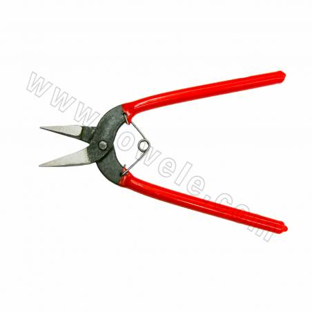 Alloy Jewelry Pliers, Wire Cutter Pliers, Red, Size 165x42mm, 12pcs/pack