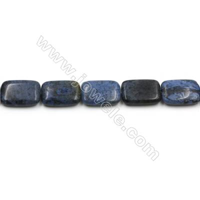 "Natural Dumortierite Gemstone Beads Strands, Grade A, Rectangle, Size 18x25mm, Hole 0.7mm, 15~16""/strand"