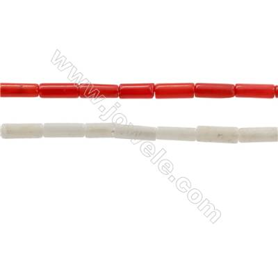 Various Colors Coral Column Beads Strands, Dyed, Size 2x6mm, Hole 0.6mm, about 66 pcs/strand,15~16""