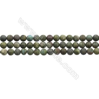 "Matte Dinosaur Stone Jasper Beads Strand, Round, Diameter 6mm, Hole 0.7mm, 15~16""/strand"