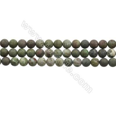 "Matte Dinosaur Stone Jasper Beads Strand, Round, Diameter  8mm, Hole 0.7mm, 15~16""/strand"