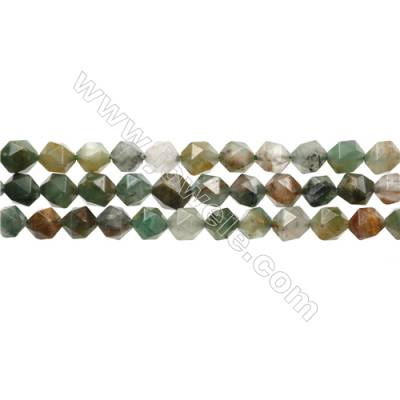 """Green Flower Chrysoprase Beads Strands, Star Cut Faceted, Size 8x8mm, Hole 1mm, 15~16""""/strand"""