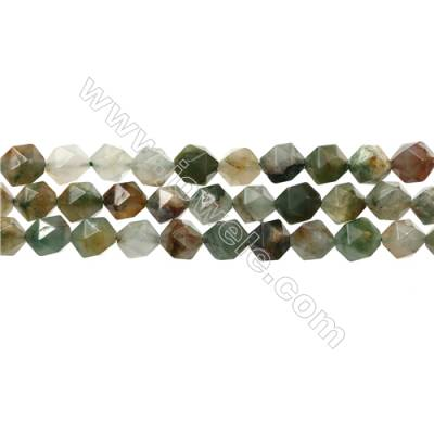"Green Flower Chrysoprase Beads Strands, Star Cut Faceted, Size 10x10mm, Hole 1mm, 15~16""/strand"