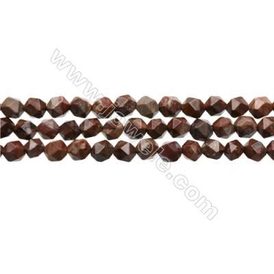 """Roter Granatapfel-Jaspis Perlenkette  Stern Schnittwinkel   6x6mm Durchmesser des Loch 0.8mm   15~16""""/ Strang"""