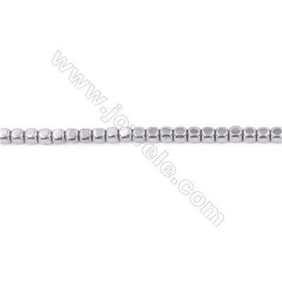 """Silver Plated Hematite Beads Strand  Cube  Size: 3x3x3mm  Hole 0.8mm  about 135 beads/strand 15~16"""""""