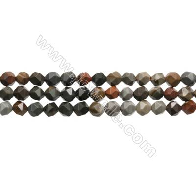 """Polychrome Jasper Beads Strands, Star Cut Faceted, Size 6x6mm, Hole 1mm, 15~16""""/strand"""