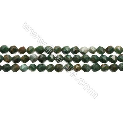 "Dyeing Crazy Agate Beads Strand, Star Cut Faceted, Size 6x6mm, Hole 1mm, 15~16""/strand"