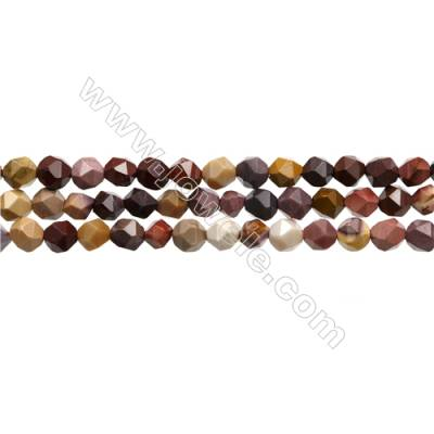 "Mookaite Jasper Beads Strands, Star Cut Faceted, Size 6x6mm, Hole 0.8mm, 15~16""/strand"