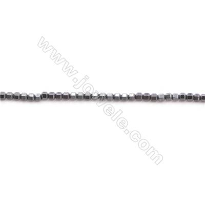 Various Colors Plated Hematite Beads Strand  Prism  Size: 1x1mm  Hole 0.8mm  about 380 beads/strand 15~16""