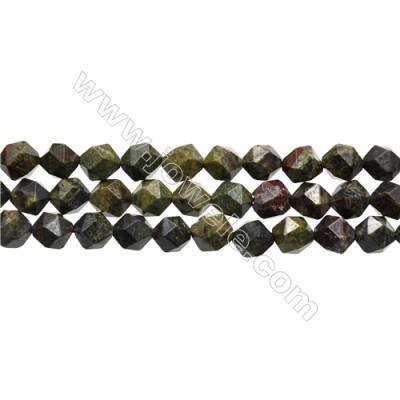 "Dinosaur Stone Jasper Beads Strand, Star Cut Faceted, Size 10x10mm, Hole 1mm, 15~16""/strand"