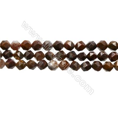 "Mexican Crazy Lace Agate Beads Strand, Star Cut Faceted, Size 8x8mm, Hole 0.8mm, 15~16""/strand"
