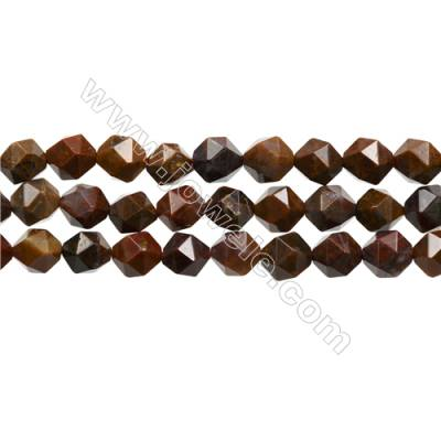 "Mexican Crazy Lace Agate Beads Strand, Star Cut Faceted, Size 10x10mm, Hole 1mm, 15~16""/strand"