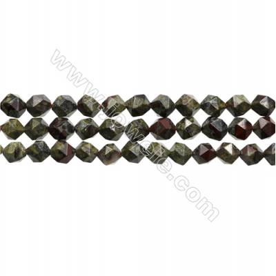 "Dinosaur Stone Jasper Beads Strand, Star Cut Faceted, Size 8x8mm, Hole 0.8mm, 15~16""/strand"