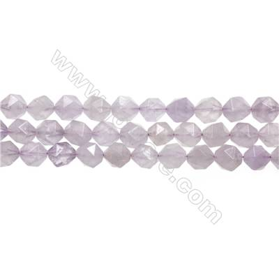 "Light Purple Jade Beads Strands, Star Cut Faceted, Size 10x10mm, Hole 1mm, 15~16""/strand"