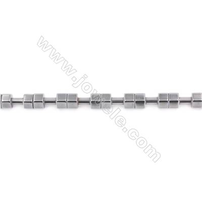 Hematite Beads Strand  Dumbbell  Size: 10x20mm  Hole 1mm  about 20 beads/strand 15~16""