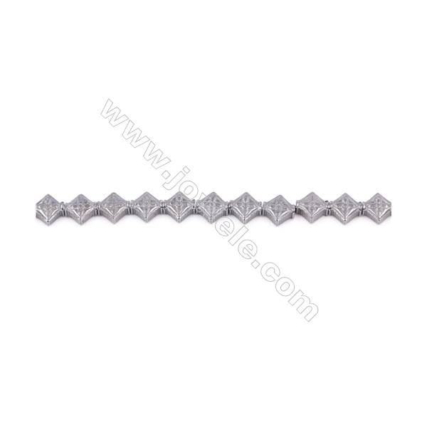 """Various Colors Plated Hematite Beads Strand  Knot  Size: 6x6mm  Hole 0.8mm  about 67 beads/strand 15~16"""""""