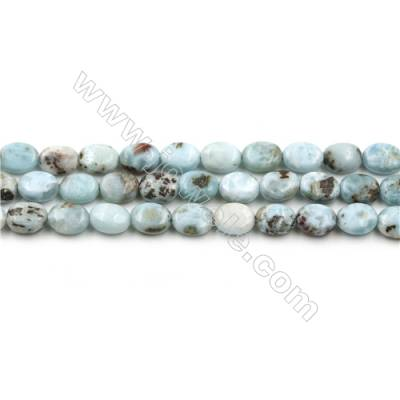 "Natural Copper Pectolite Larimar Beads Strands, Oval, Size 6x8mm, Hole 0.8mm, 15~16""/strand"