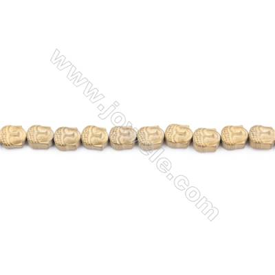 Golden Plated Hematite Beads Strand  Head  Size: 6x8mm  Hole 1mm  about 79 beads/strand 15~16""