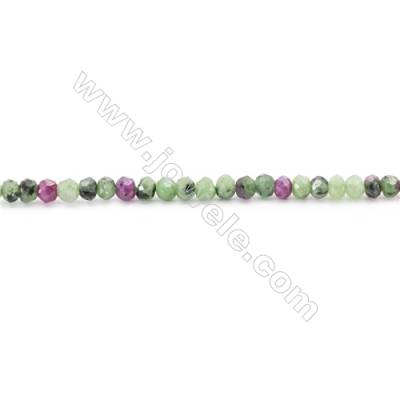 Frosted Ruby Zoisite Beads Strand  Faceted Abacus   Size 2x3mm  hole 1mm  173 beads/strand  15~16""