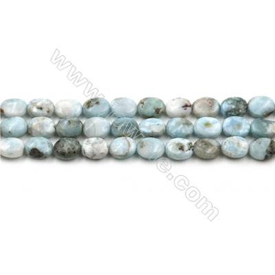 "Natural Copper Pectolite /Larimar Beads Strands, Oval, Size 7x8mm, Hole 0.8mm, 15~16""/strand"