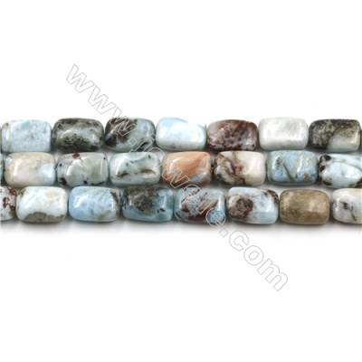 "Natural Copper Pectolite Larimar/l Beads Strands, Rectangle, Size 8x10mm, Hole 0.8mm, 15~16""/strand"
