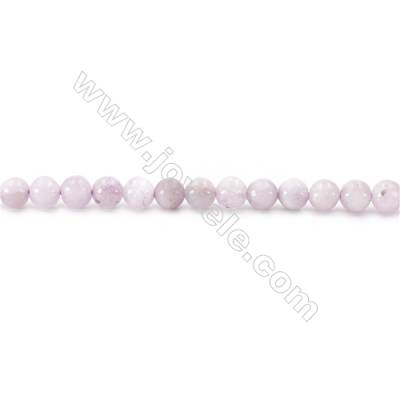 Natural Kunzite Beads Strand  Round  diameter 6mm  hole 1mm   about 72 beads/strand   15~16""