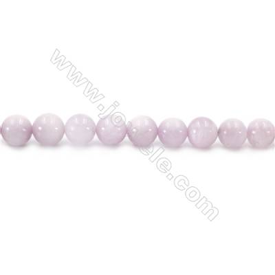 Natural Kunzite Beads Strand  Round  diameter 8mm  hole 1mm  about 52 beads/strand  15~16""